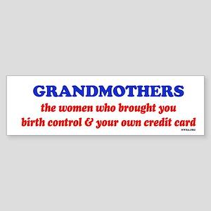 GRANDMOTHERS Bumper Sticker