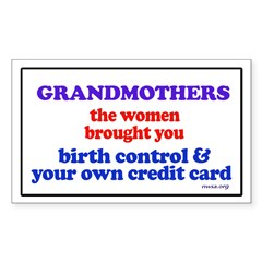 GRANDMOTHERS Rectangle Sticker 10 pk)