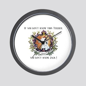 Know Jack - Russell Terrier Wall Clock