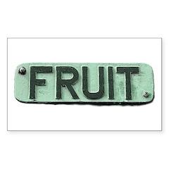 FRUIT Rectangle Decal