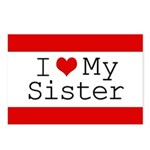 I Heart My Sister Postcards (Package of 8)