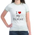 I Heart My Sister Jr. Ringer T-Shirt