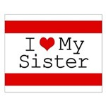 I Heart My Sister Small Poster
