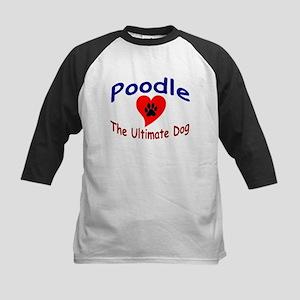 Poodle Kids Baseball Jersey