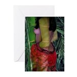 Bamboo Female Nude Greeting Cards (Pk of 10)