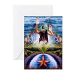 Hawaiian Rainbow Fantasy Greeting Cards (Pk of 10)