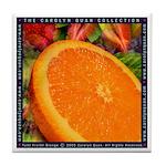 """Tutti Fruitti Orange"" Tile Coaster"