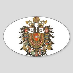 Austria-Hungary Oval Sticker