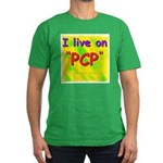 I live on PCP ! Men's Fitted T-Shirt (dark)