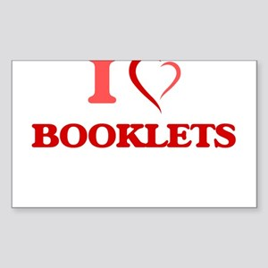 I Love Booklets Sticker