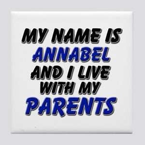 my name is annabel and I live with my parents Tile