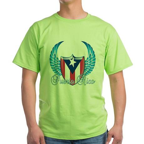 Puerto rican pride Green T-Shirt