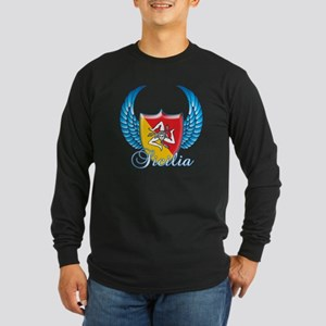 Sicilian Pride Long Sleeve Dark T-Shirt