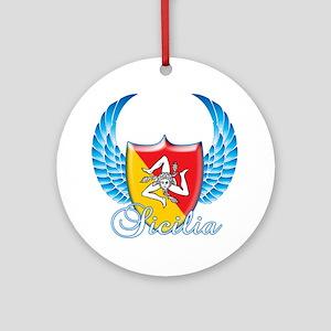 Sicilian Pride Ornament (Round)