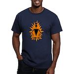 Bionic Robot Men's Fitted T-Shirt (dark)