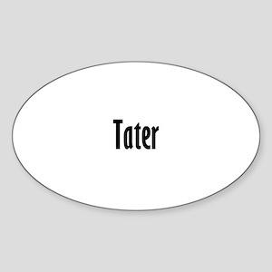 tater Oval Sticker
