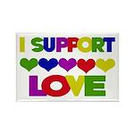 I support Love Rectangle Magnet (10 pack)