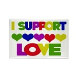 I support Love Rectangle Magnet