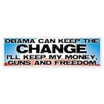 Keep The Change Bumper Sticker (10 pk)