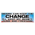 Keep The Change Bumper Sticker