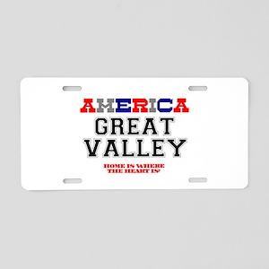 AMERICA REGIONS - GREAT VAL Aluminum License Plate