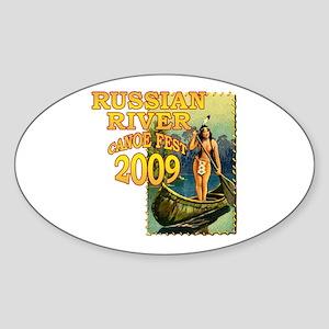 Russian River Canoe Fest 2009 Oval Sticker