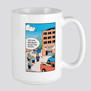 Toothpaste Roof Top Off Large Mug