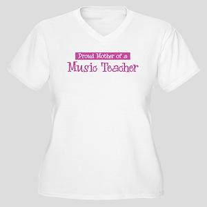 Proud Mother of Music Teacher Women's Plus Size V-