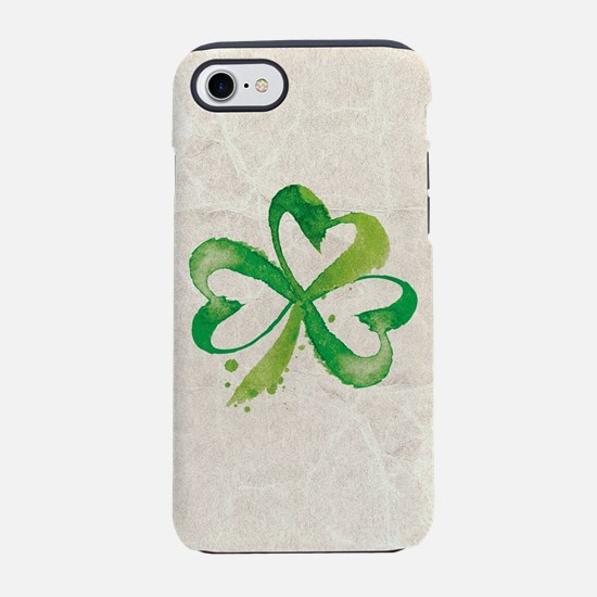 Shamrock Brushstrokes iPhone 7 Tough Case