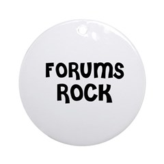 FORUMS ROCK Ornament (Round)