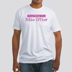 Proud Mother of Police Office Fitted T-Shirt