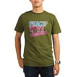 Peace Love and Happiness Organic Men's T-Shirt (da