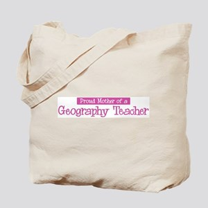 Proud Mother of Geography Tea Tote Bag