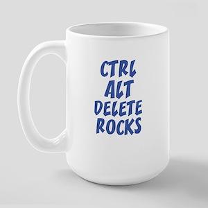 CTRL ALT DELETE ROCKS Large Mug