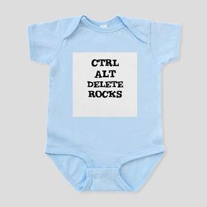 CTRL ALT DELETE ROCKS Infant Creeper