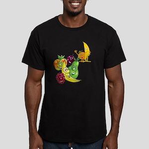 Healthy Happy Fruit Men's Fitted T-Shirt (dark)