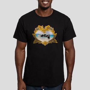 Wild Ponies Vintage Surf Men's Fitted T-Shirt (dar
