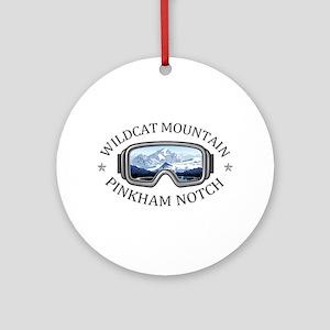 Wildcat Mountain - Pinkham Notch Round Ornament