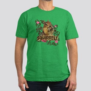 Squirrely Squirrel Lover Men's Fitted T-Shirt (dar