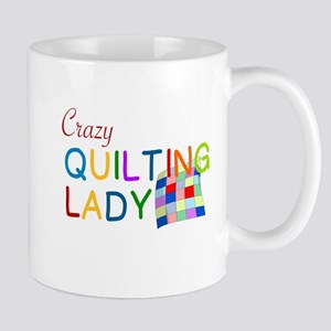 CRAZY QUILTING LADY Mugs