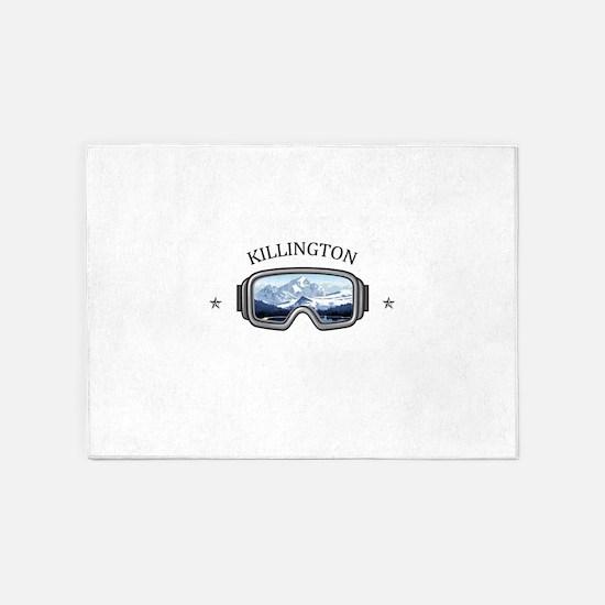 Killington Ski Resort - Killingto 5'x7'Area Rug