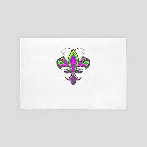 Mardi Gras Fleur De Lis Crawfish 4' x 6' Rug