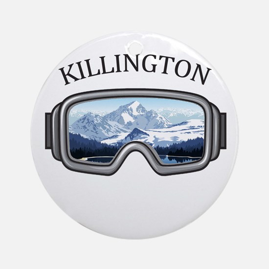 Killington Ski Resort - Killingto Round Ornament