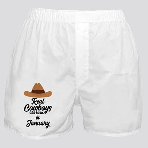 Real Cowboys are bon in January C84gl Boxer Shorts
