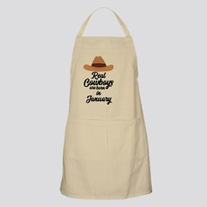 Real Cowboys are bon in January C84gl Light Apron