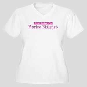 Proud Mother of Marine Biolog Women's Plus Size V-