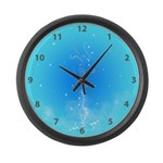 Swirls & Twirls Large Wall Clock