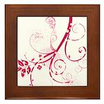Swirls & Twirls Framed Tile