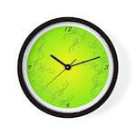 Swirls & Twirls Wall Clock