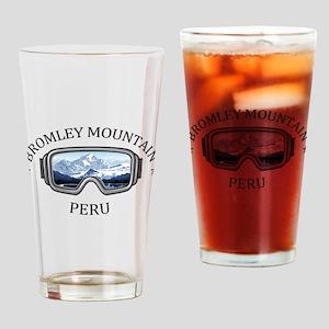 Bromley Mountain - Peru - Vermont Drinking Glass